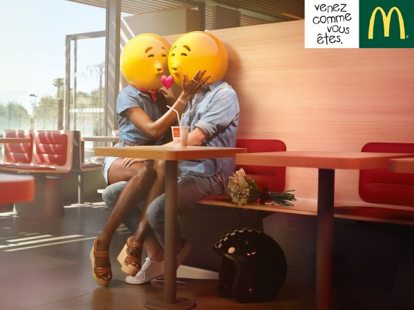 Commission: NICK & CHLOE shoot Emoticons for McDonald's