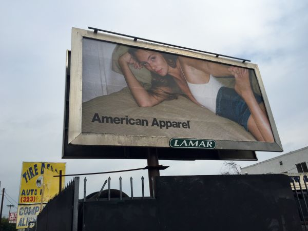 New American Apparel OOH campaign spotted on the streets of LA