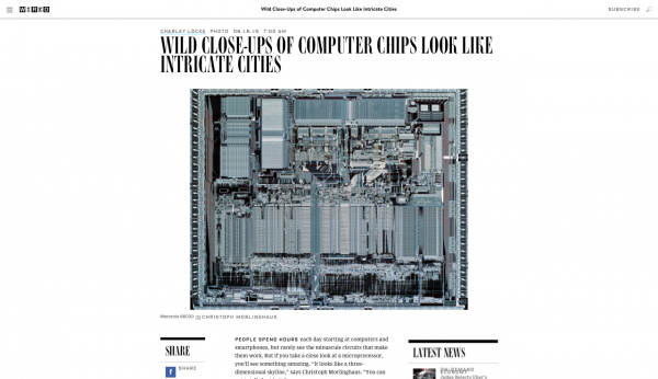 Wired features Christoph Morlinghaus' Close-Ups of Computer Chips
