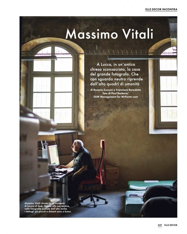Paul Barbera shoots Massimo Vitali for Elle Decor Italy