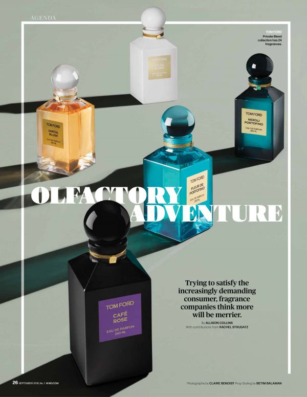 Claire Benoist in WWD 'Olfactory Adventure'