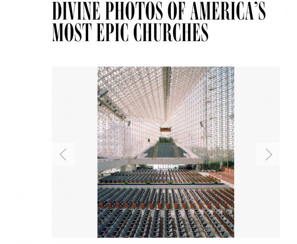 Christoph Morlinghaus- Divine photos of  America's most epic churches featured IN WIRED