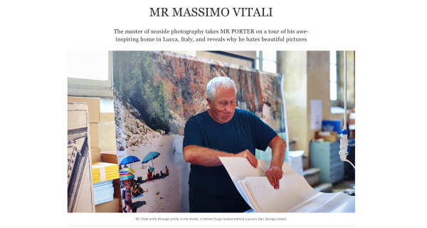 Commission: Paul BARBERA shoots  Massimo Vitali for MR PORTER